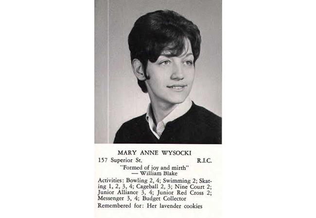 MaryAnn Wysocki Yearbook Photo
