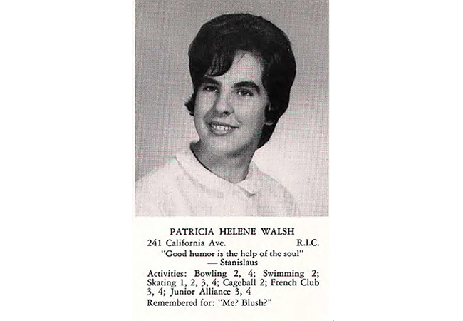 Pat Walsh Yearbook Photo