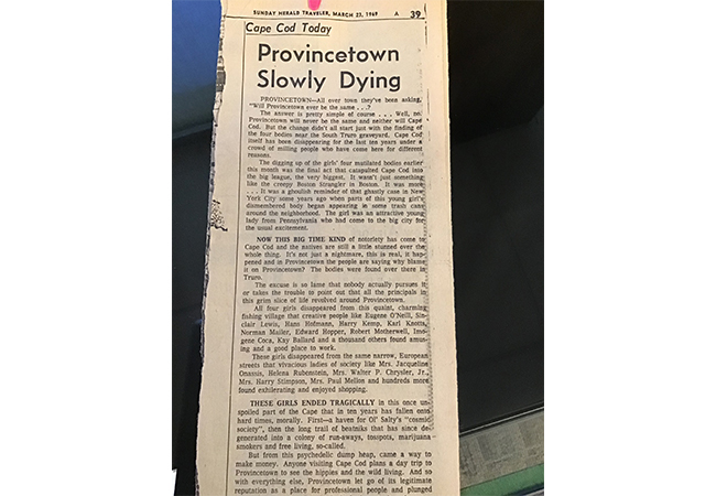 Provincetown Slowly Dying