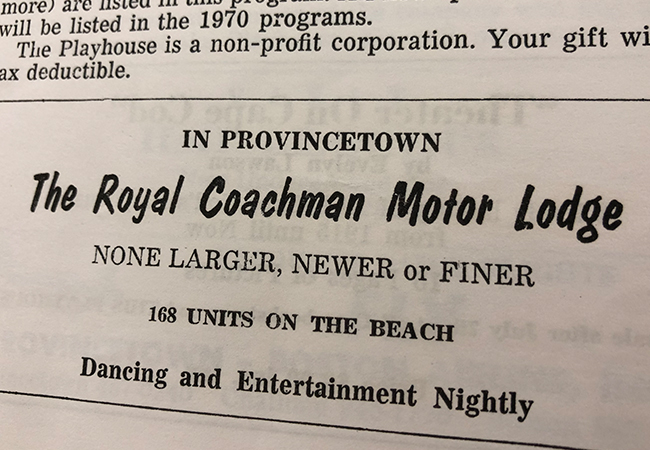 Royal Coachman Ad in Advocate