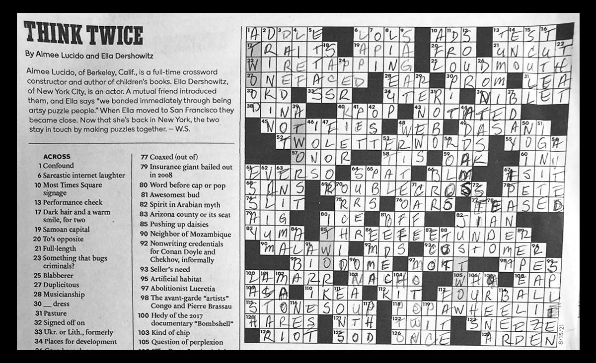 crossword puzzle by Jennifer Jordan